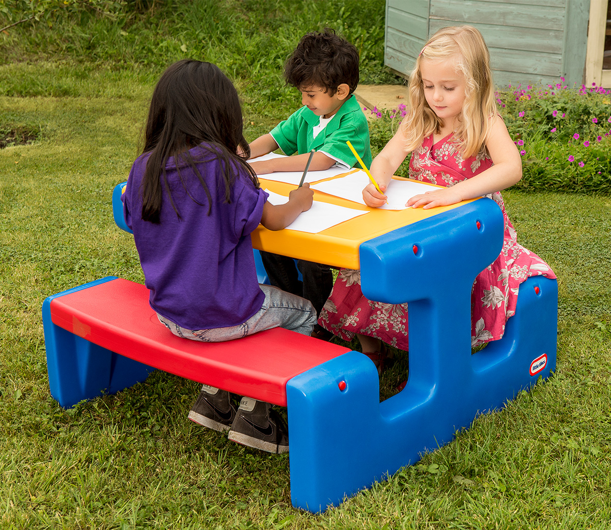 Large Picnic Table Primary Little Tikes
