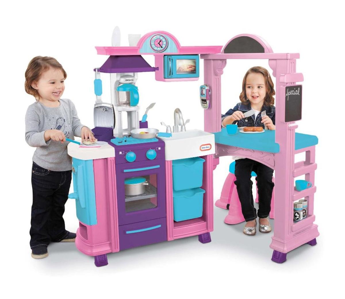 tikes kitchen restaurant pink. Black Bedroom Furniture Sets. Home Design Ideas