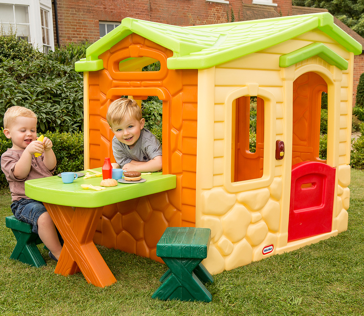 picnic on the patio playhouse natural - Little Tikes Picnic On The Patio Playhouse