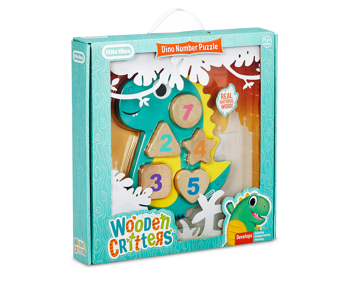 Wooden Critters Dino Number Puzzle